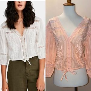 Free People Follow Your Heart Cotton Top